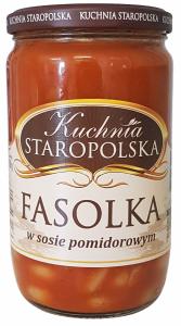 Kuchnia Staropolska Fasolka w sosie pomidorowym 700g
