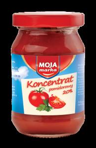 MOJA MARKA Koncentrat pomidorowy 20% 180G