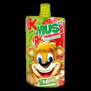 Kubuś Mus 100% truskawka jabłko banan marchew 100 g