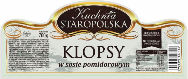 Klopsy w sosie pomidorowym KUCHNIA STAROPOLSKA 700 g