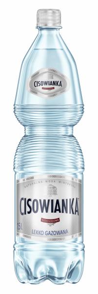 Naturalna woda mineralna Cisowianka lekko gazowana 1,5l